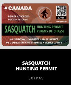 Sasquatch Hunting Permit